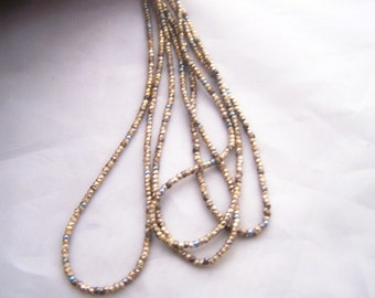 Vintage French tiny  Gold beads tubes and steel cuts