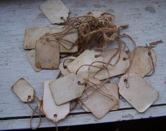 old fashion price tag labels distressed Western Wear retail antique resale tags