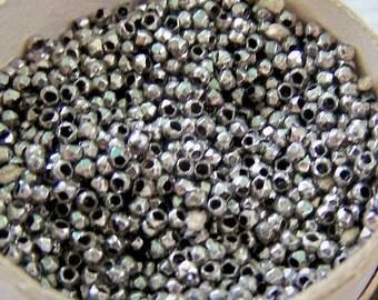 French steel cut beads  No rust Diamond cut  loose grams