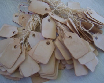 Wild Western Old fashion paper label tags  hanging  price tags 50x