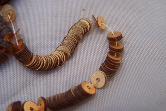 Vintage  Paillettes Sequins Paris France Flat Gold Copper 6 mm Metallic disks millinery supplies