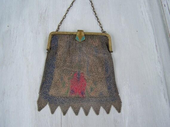 Antique mesh handbag Tiny baby mesh