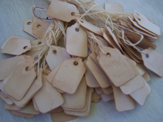 Wild Western Old fashion paper label tags  hanging  price tags 100x