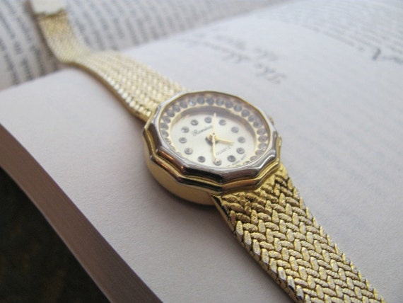 Vintage Gold Ronica Women S Watch 18k Electroplate