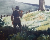 Art Print, The Pioneer by Winslow Homer, Antique Museum Print, On Sale