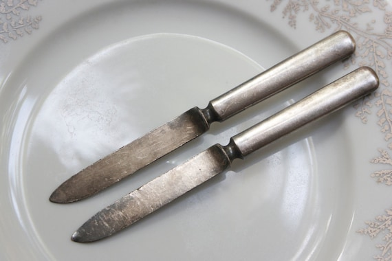 Silverware, Fruit Knives, Set of 2, Rustic and Shabby