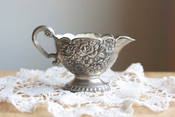 Little Silver Creamer, Servingware, Shabby French Country