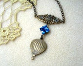SHOP CLOSING SALE--What A Ride Hot Air Balloon Necklace