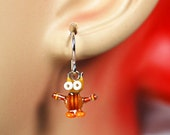 Robot Owl Earrings