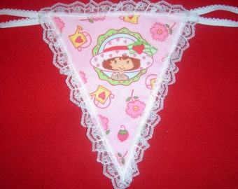 Womens STRAWBERRY SHORTCAKE G-String Thong Lingerie Panty Underwear