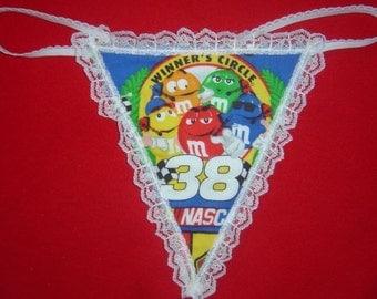 Womens NASCAR WINNERS CIRCLE 38 G-String Thong Lingerie Panty Underwear