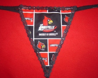 Womens UNIVERSITY OF LOUISVILLE Cardinals G-String Thong Lingerie Panty Underwear