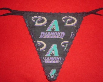 Womens ARIZONA DIAMONDBACKS Gstring Thong Baseball Lingerie