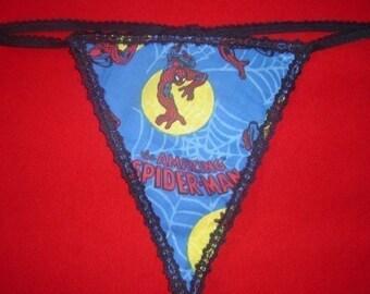 Womens SPIDERMAN G-String Thong Lingerie Panty Underwear
