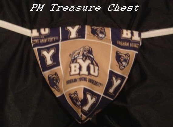 Mens BRIGHAM YOUNG UNIVERSITY G-String Thong Male Lingerie Underwear