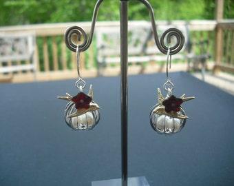 my little treasure earrings - sterling silver ear wires