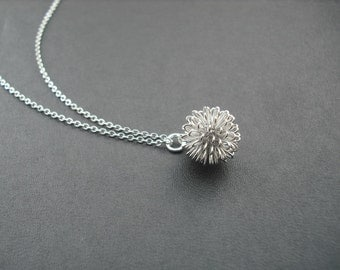 dandelion necklace - Sterling silver chain