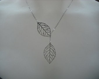 Sterling Silver Chain - leafy lariat