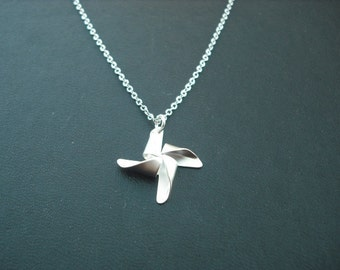Sterling Silver Chain - Pinwheel necklace