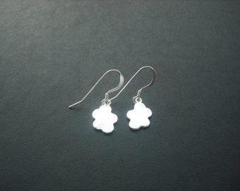 line art clouds earrings - sterling silver filled ear wires