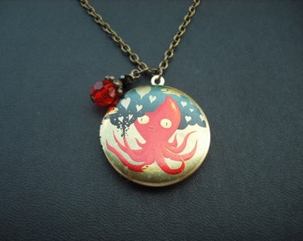 octopus love locket