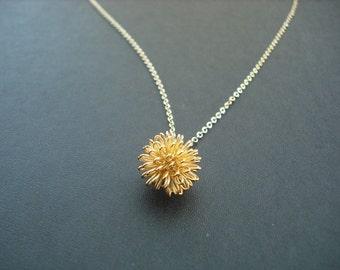 14K Gold Filled Chain - dandelion necklace
