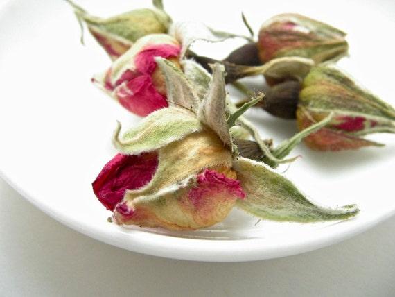 Dried Flower Rosebuds in a Jar