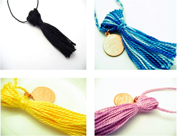 Mini Graduation Tassels in Your School Colors with thread hangers
