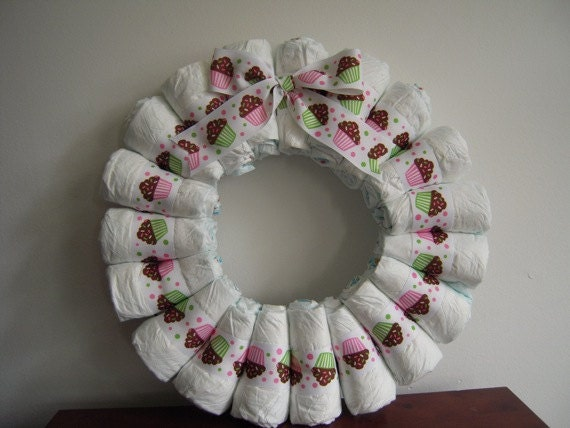 Items Similar To Diy Simple Diaper Wreath Kit Single