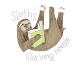Sloths Like Long Novels - bearandthehare