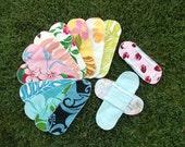20 Aloha Print Cloth Menstrual Pads Pantyliners w / 2 Detached Wings - LONG