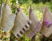 "Medium Flow FOLDABLE Cloth Menstrual Pad w/Wings 9"""