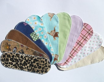 Mystery Pack Set of 10 Flannel Pantyliners - Long