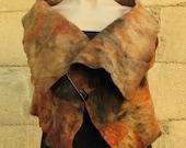 Eco dyed felt vest