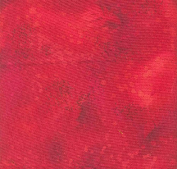 Red fossil fern cotton fabric, free shipping