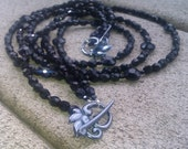 Black Crystal 4 (and more) Way Necklace