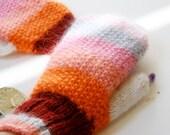 Red mittens, women mittens, knit winter mittens, wool mittens, warm gloves