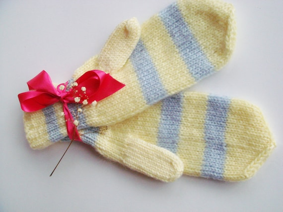Knit Wool mittens, women mittens, winter gloves