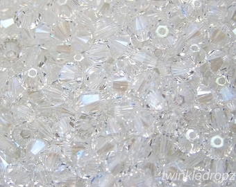 36 pcs CRYSTAL MOONLIGHT Swarovski Bicone Beads 5301 6mm Wholesale Destash