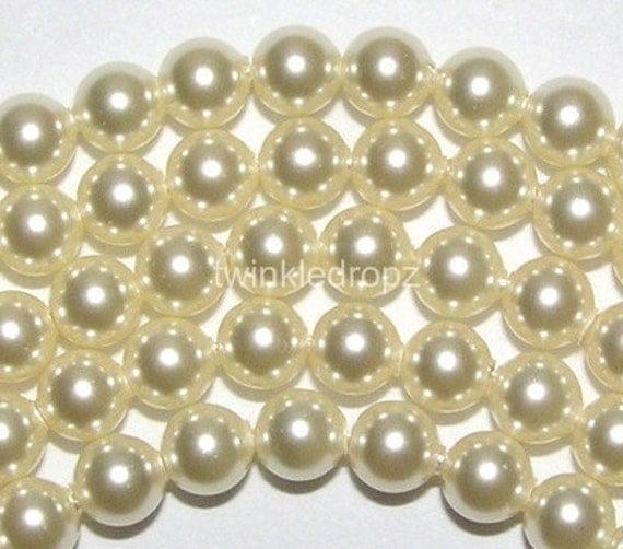 400 pcs CREAM Swarovski Crystal Pearl Beads 5810 4mm Wholesale Destash