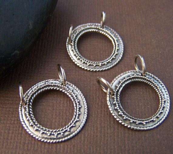 Destash Sterling Silver Eyeglass Holder Loop Pendant (3) Three