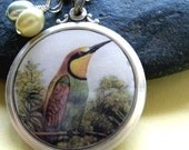 Handcrafted Jewelry Necklace with Pendant (Silver) The Hummingbird