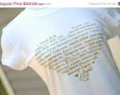 ON SALE - LOVE Languages T-Shirt - Gold on White - Ladies