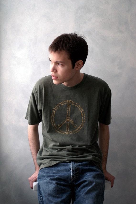 World PEACE T-Shirt - Moss - Unisex