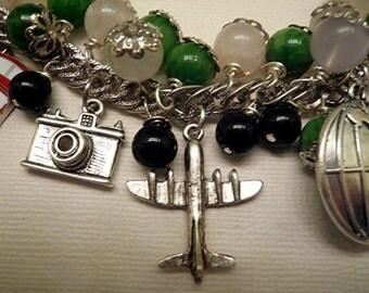 Travel  Bracelet Vacation Bracelet Charm Bracelet Beaded Necklace