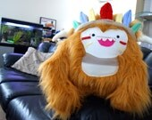 Chief Choo Large OOAK Plush with wearable feather headband/necklace