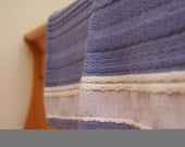 Baby Wool Blanket - Periwinkle, Pink and White