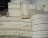 Set of 4 Hand Woven, Natural Pillows