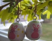 White Bunny Easter earrings, SALE