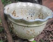 SALE Vintage Hallelujah Pottery Colander